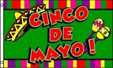 Cinco De Mayo Flag Mexican Party Banner May 5 Sign Large 3x5 Foot Bar Sign