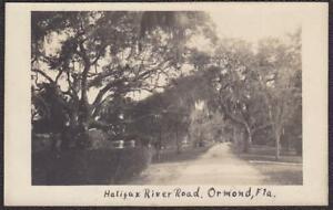 Ormond, Florida RPPC 1910 - Scenic Halifax River Road Real Photo Postcard