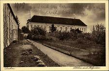 Dachau Oberbayern alte Ansichtskarte 1928 Partie am Schloss mit dem Hofgarten