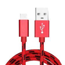 USB auf Typ-C USB-C Ladekabel Datenkabel 2m für Samsung Huawei Xiaomi Sony Rot
