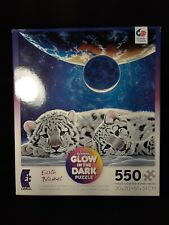 NEW Earth Blanket Glow In The Dark 550pc Puzzle CEACO Tigers