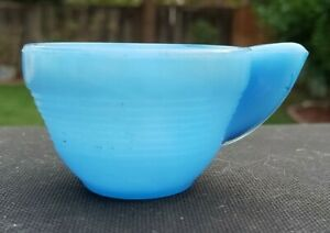 Akro Agate Concentric Ring Blue (Opaque) Child Cup