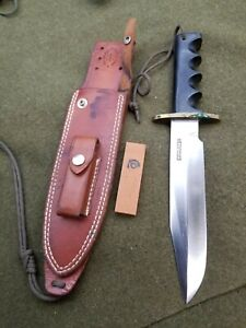 """Older Randall Made Knives 14 - 7"""" Attack Stainless Blade w/ Sheath & stone"""
