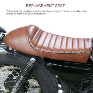 For Honda CB Suzuki GS Cafe Racer Retro Refit Flat Brat&Hump Saddle Seat Cushion