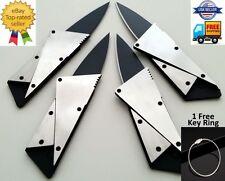 4 x Credit Card Knives Lot folding steel wallet thin pocket survival micro knife