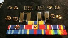 US Air Force Captain Bars, US Pins, Ribbons Bronze Star & Oak Leaf Attachments