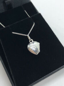 SMALL STERLING SILVER 925 ENGRAVED HEART LOCKET NECKLACE - CHILDS ADULTS