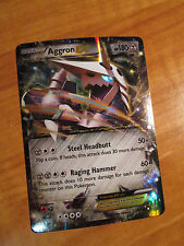 NM Pokemon AGGRON EX Card PRIMAL CLASH Set 93/160 XY X and Y Ultra Rare 180 HP