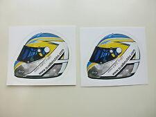 2 Adam QUAIFE-Hobbs GP2 Casque officiel stickers
