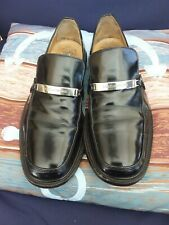 Mens Black Dolce & Gabbana Silver Spellout Bit Loafers Size USA 10D