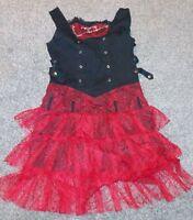 gothic/punk Alternative Xs punk dress. Black with red netting size large