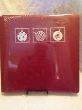 Creative Memories Old Style, Retired, LTD Edition 12x12 Red Holiday Album w/Pgs