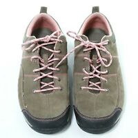 LL Bean Sport Womens Brown Suede Lace Up Hiking Walking Shoes Size US 8.5M