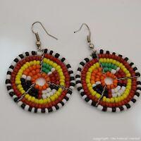Maasai Market Africa Ethnic Jewelry Masai Bead Multi Color Dangle Earring 689-94