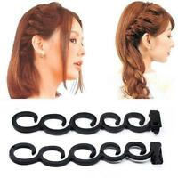 French Hair Braid Tool Magic Twist Styling Bun Maker Holder Clip Roller Hook -FI