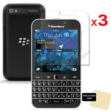 3 Pack of CLEAR LCD Screen Protector Cover Guards for Blackberry Classic (Q20)