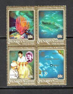 Penrhyn 1983 RED CORAL GRASS SKIRT Island  View  SC 211 A-D   SG 278A  MNH