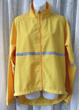 MEC Bright Yellow Running Jacket Meduim Lightweight Cycle Full Zip