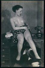 qq French nude woman Biederer original old c1925 photo postcard