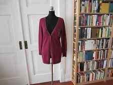 MADELEINE Strickjacke Gr. 36/38 bordeaux-rot 100% Wolle NEU Cardigan Herbst