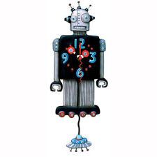 Allen Designs ROBOTO Clock Nuovo/Scatola Originale Robot + UFO pendolo orologio da parete Orologio stanza dei bambini