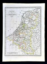 1829 Malte Brun Map Holland Belgium Netherlands Amsterdam Brussels Europe