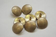 8pc 25mm Tarnished Gold Incan Sun Inspired Metal Coat Cardigan Button 3324