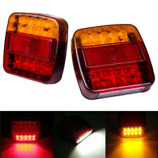 12V Pair Truck Trailer Boat LED Stop Indicator Submersible Rear Tail Brake Light
