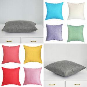 40*40cm Linen Pillowcase Home Decor Sofa Waist Throw Cushion Cover Pillowslip