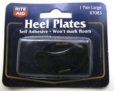 Heal Plates, Shoe Repair, 1 Pair Large R7083 Self Adhesive, Non-Marking, Black