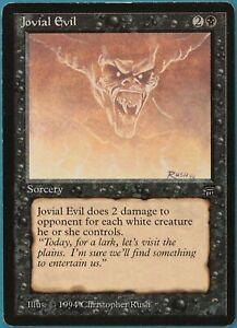 Jovial Evil Legends HEAVILY PLD Black Rare MAGIC MTG CARD (ID# 213306) ABUGames