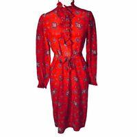 Vintage Diane Von Furstenberg Floral Silk Dress