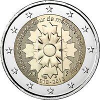 Frankreich 2 Euro Gedenkmünze Kornblume 2018 bankfrisch