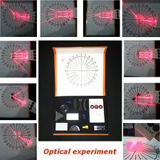 PHYSICAL OPTICAL EXPERIMENT SET CONCAVECONVEX LENS TRIANGULAR PRISM LASER TEST