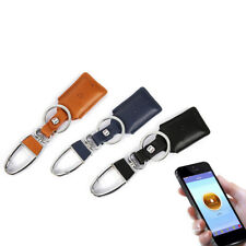 Hot Faux Leather Anti-Lost Bluetooth GPS Tracker Finder Keyring Key Chain Useful
