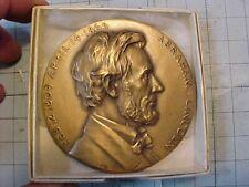 Original Vintage Lincoln Bronze Medallic Artco Medal