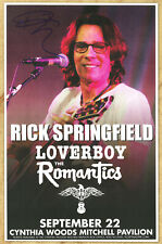 Rick Springfield autographed concert poster 2015 Don't Talk To Strangers
