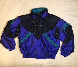 Descente ski jacket, XL, Mens, Green, Purple,& Black
