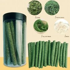 New listing Natural Rabbit Hamster Grass Chew Sticks Pet Food Toy Snack for Rabbit Hamsters