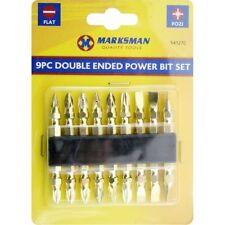 9PC DOUBLE ENDED POWER BIT SET FLAT & POZI PZ1 PZ2 PZ3 SCREWDRIVER DRILL DRIVER