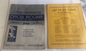 Original Indianapolis 500 1937 Racing Program Silver Anniversary