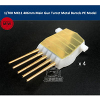 TMW 1/700 MK11 406mm Main Gun Turret with Metal Barrels and Photo-Etched Parts 4