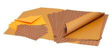 Bastelpapier - Geschenkpapier - Set II mit Karte | Muster orange gestreift