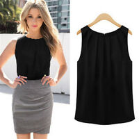 Summer Sexy Womens Vest Sleeveless Casual Tank T-Shirt Chiffon Tops Loose Blouse