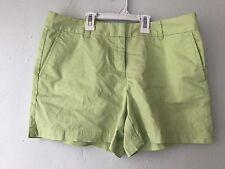 Ann Taylor Loft Chartreuse Green Chino Shorts Women's Size 10 NEW