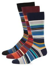 Rare! NWT/gift box Paul Smith striped 3-pack socks made in Italy. Yours for?