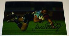 Jamie Roberts Montoya Rugby personalmente mano firmado autógrafo Foto