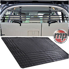 Black Durable Waterproof Rubber Car Boot Liner Mat & Pet Dog Barrier Bar Guard