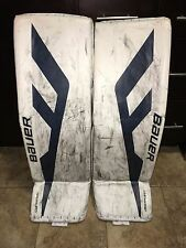 "Pro Stock Pro Return Bauer 1S OD1N Buffalo Sabres Goalie Pads Large 35""+1"""