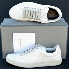 Tom Ford New sz 10.5 Auth Designer Mens Low Top Sneakers Shoes natural white